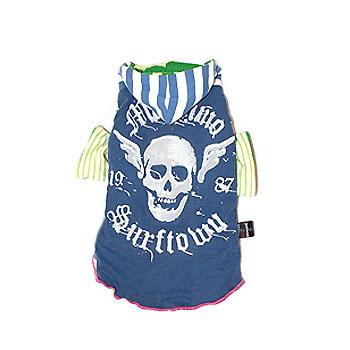 Blue Skull Vintage Hoodie XS