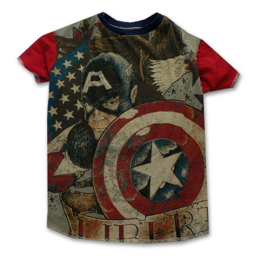 Captain America Pet Tee